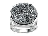 Silver Drusy Ring