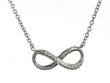 925 Sterling Silver Cubic Zirconia Infiniti Pendant on 18 Inch Chain