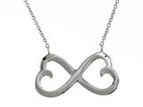 925 Sterling Silver Heart Infiniti Pendant on 18 Inch Chain