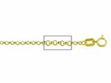 14 kt Yellow Gold Rolo Chain Necklace 1.60mm 24 inches