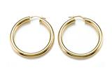 18K Yellow Gold Plated Silver Round Hoop Earrings