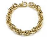 18K Yellow Gold Plated Silver Link Bracelet style: 63078
