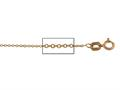 14 kt Pink Gold Cable Chain Necklace 1.0mm 16 inches