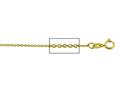 14 kt Yellow Gold Diamond Cut Cable Chain Necklace 1.1mm 24 inches