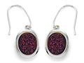 Purple Drusy Hanging Earrings