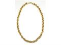 18K Yellow Gold Plated Silver 18 inches Link Necklace