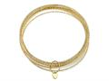 10 Piece Bangle Set in18K Yellow Gold Plated Silver