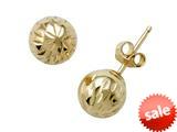 14k Yellow Gold 6mm Ball Earrings style: 630004