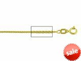 14 kt Yellow Gold Wheat Chain Necklace 0.8mm 18 inches style: 630045