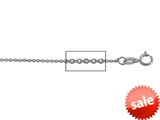 14 kt White Gold Diamond Cut Cable Chain Necklace 1.1mm 18 inches style: 630053