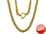 Yellow Gold Plated Silver 18 inches Byzantina Necklace
