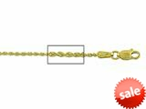 14 kt Yellow Gold Diamond Cut Rope Chain Necklace 1.25mm 16 inches Lobster Lock