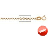 14 kt Pink Gold Rolo Chain Necklace 1.60mm 20 inches style: 630121