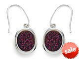 Purple Drusy Hanging Earrings style: 630124