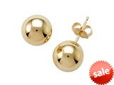 14k Yellow Gold 4mm Ball Earrings