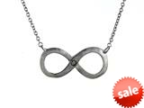 925 Sterling Silver Satin Infiniti Pendant on 18 Inch Chain style: 630142