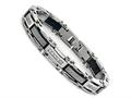 Stainless Steel Mens Bracelet with Cubic Zirconia