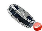 Stainless Steel and Rubber Mens Bracelet style: 77518