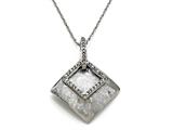 Sterling Silver Pendant with Diamonds