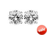 IGI Certified 14k White Gold Screw Back 1/3 cttw Diamond Stud Earrings style: 37001430