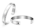 Inori Stainless Steel Bangle with Cubic Zirconia (CZ)