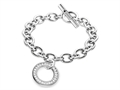 Inori Steel with Cubic Zirconia (CZ) Circle Charm