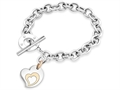 Inori Stainless Steel Heart Charm Bracelet