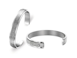 Inori Stainless Steel Bangle Cubic Zirconia (CZ)