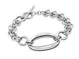 "Inori Stainless Steel ""One in a Million"" Inscribed Chain Link Bracelet"