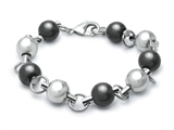 Inori Ball Black And Steel Bracelet