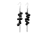 Inori Stainless Steel Earring with Onyx