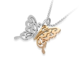 Inori Stainless Steel Rose Butterfly Pendant