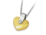 Inori Stainless Steel Heart Pendant With Cubic Zirconia (CZ)