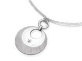 Inori Stainless Steel Pendant with Cubic Zirconia (CZ) style: INP90
