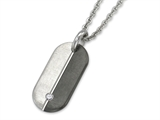 Inori Dog Tag Stainless Steel Pendant Cubic Zirconia (CZ)
