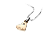 Inori Stainless Steel Be My Sweet Heart 2 of a Kind Pendant
