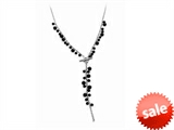 Inori Stainless Steel Necklace Onyx