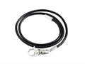 SilveRado™ LC004-45 Leather Black 3.0mm 17.75 inches  Pandora Compatible Bead Necklace