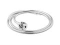 SilveRado NK45-M-a Necklace Sterling Silver 3.0 mm 17.7 inch Pandora Compatible Bead Necklace
