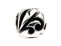 SilveRado™ SRM026 Sterling Silver Unisex Abstract Music Pandora Compatible Bead / Charm