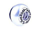 SilveRado™ GP01 Murano Glass Cream Color Pandora Compatible Bead / Charm style: GP01