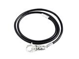 SilveRado LC004-45 Leather Black 3.0mm 17.75 inches  Pandora Compatible Bead Necklace