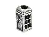 SilveRado™ Sterling Silver Telephone Box Bead / Charm style: MS319