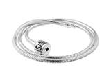 SilveRado™ NK45-M-a Necklace Sterling Silver 3.0 mm 17.7 inch Pandora Compatible Bead Necklace style: NK45-M-A