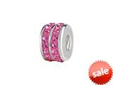 SilveRado™ BK002-2 Bling Kidz Double Bling Pink Bead / Charm style: BK002-2