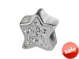 SilveRado™ BK009-1 Bling Kidz Star Bling White Bead / Charm style: BK009-1