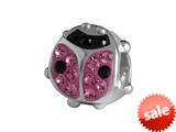 SilveRado™ BK010-2-0 Bling Kidz Lady Bird Pink Bead / Charm style: BK010-2-0