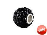 SilveRado™ BM001-0 Bling Razzle Dazzle Black Bead / Charm style: BM001-0