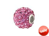 SilveRado™ BM001-2 Bling Razzle Dazzle Pink Bead / Charm style: BM001-2