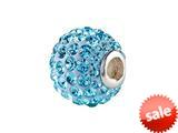 SilveRado™ BM001-3 Bling Razzle Dazzle Blue Pandora Compatible Bead / Charm style: BM001-3